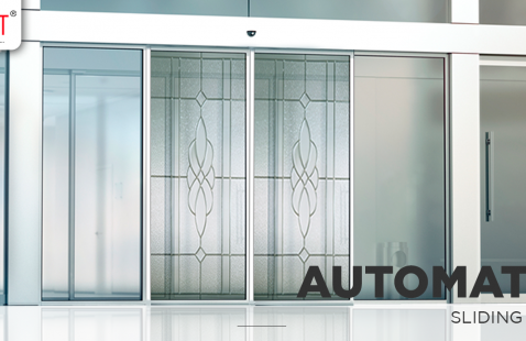 How do sensors slide an Automatic Sensor Glass Door?